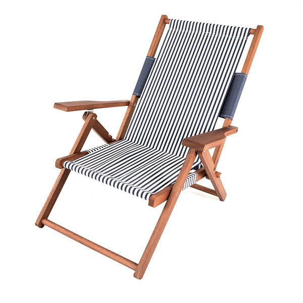 Business & Pleasure Premium Tommy Chair - Laurens Navy Stripe - Barefoot Blvd