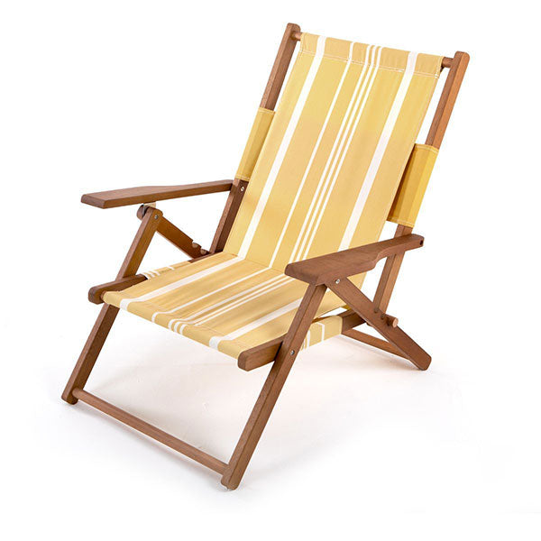 Business & Pleasure The Tommy Chair - Vintage Yellow Stripe - Barefoot Blvd