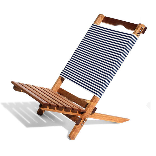 Business & Pleasure 2-Piece Chair - Laurens Navy Stripe - Barefoot Blvd