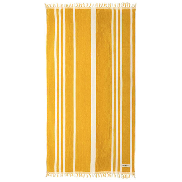 Business & Pleasure Beach Towel - Vintage Yellow