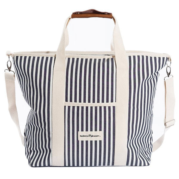 Business & Pleasure Cooler Tote Bag - Laurens Navy Stripe