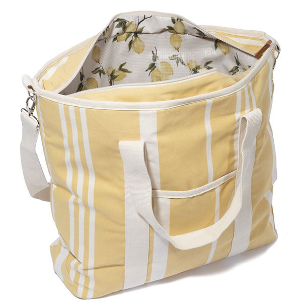 Business & Pleasure Cooler Tote Bag - Vintage Yellow Stripe