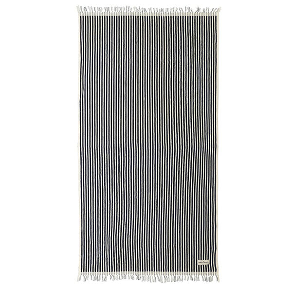 Business & Pleasure Beach Towel - Laurens Navy Stripe - Barefoot Blvd