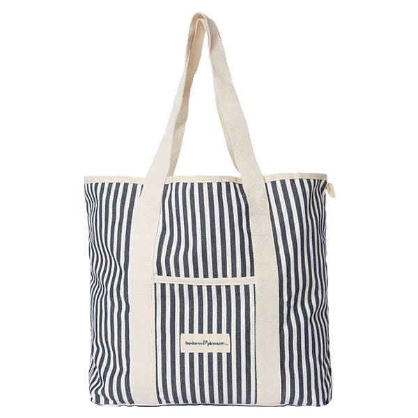 Business & Pleasure Beach Bag - Laurens Navy Stripe - Barefoot Blvd