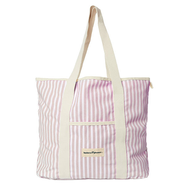 Business & Pleasure Beach Bag - Laurens Pink Stripe - Barefoot Blvd