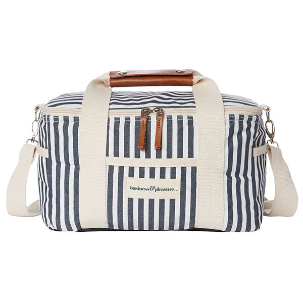 Business & Pleasure Premium Cooler - Laurens Navy Stripe - Barefoot Blvd
