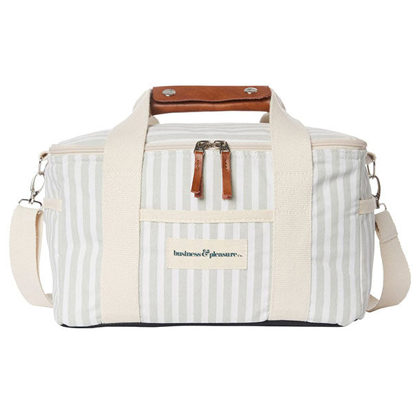 Business & Pleasure Premium Cooler - Laurens Sage Stripe - Barefoot Blvd