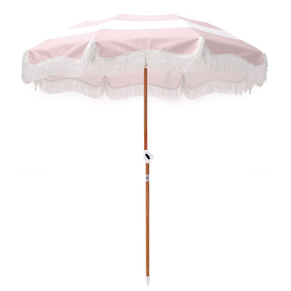 Business & Pleasure Holiday Umbrella - Pink Stripe - Barefoot Blvd