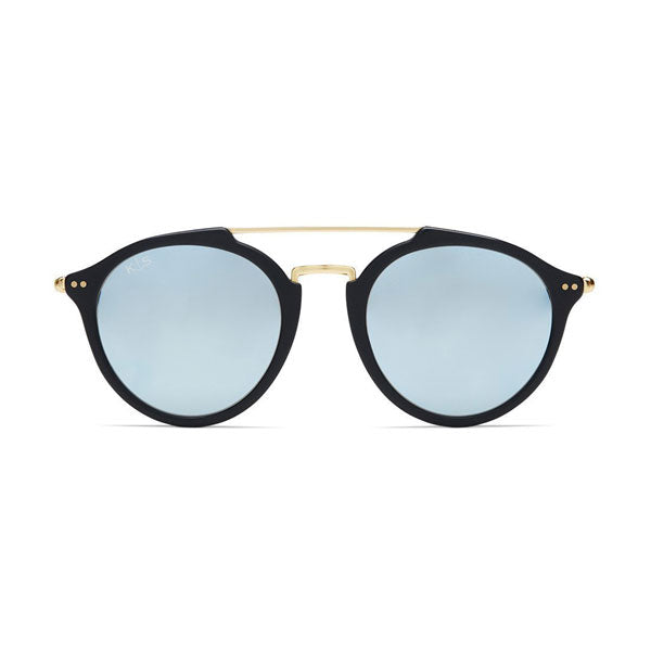 Kapten & Son Fitzroy Sunglasses - Black Blue Mirror - Barefoot Blvd