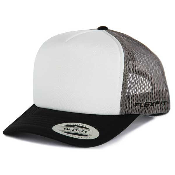 Flexfit Hi Crown Trucker - Grey/Black - Barefoot Blvd