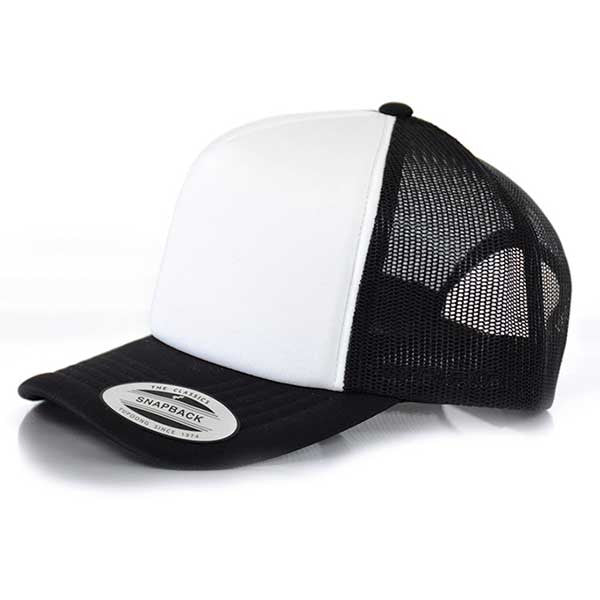 Flexfit Hi Crown Trucker - Black/White