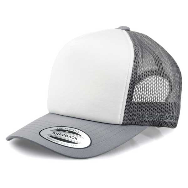Flexfit Hi Crown Trucker - Grey/White - Barefoot Blvd