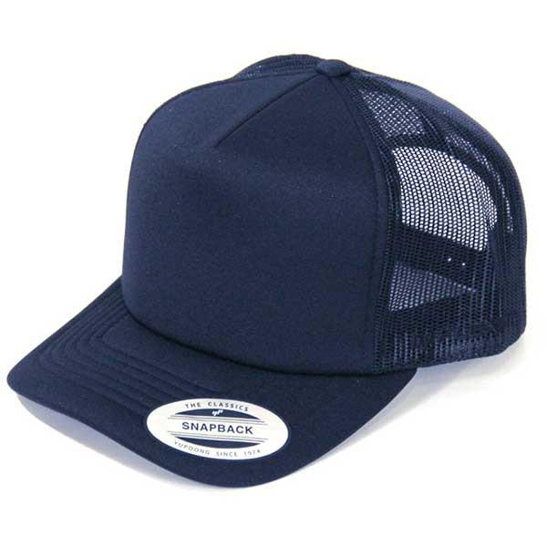 Flexfit Hi Crown Trucker - Youth Navy - Barefoot Blvd