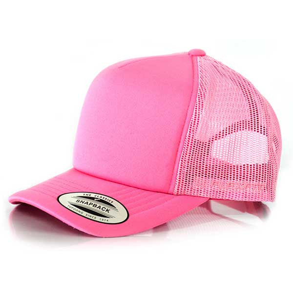 Flexfit Hi Crown Trucker - Toddler Pink - Barefoot Blvd