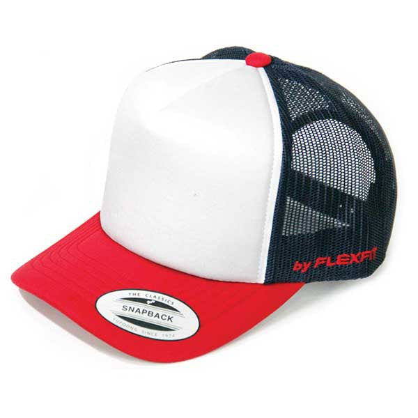 Flexfit Hi Crown Trucker - Red/Navy - Barefoot Blvd