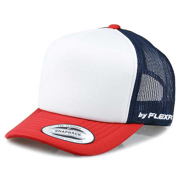 Flexfit Hi Crown Trucker - Toddler Navy/Red - Barefoot Blvd