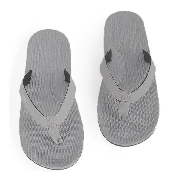 Indosole Mens Essential Flip Flop - Granite - Barefoot Blvd
