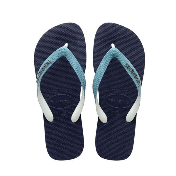 Havaianas Top Mix - Navy/Mineral Blue Kids - Barefoot Blvd
