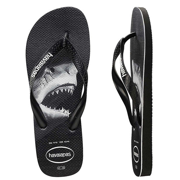 Havaianas Shark Photoprint - Black/Black/Grey Kids - Barefoot Blvd
