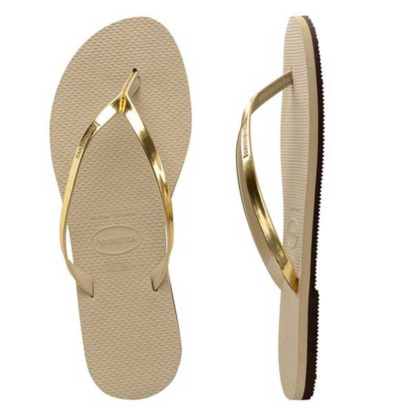 Havaianas You Metallic - Sand Grey/Light Golden - Barefoot Blvd