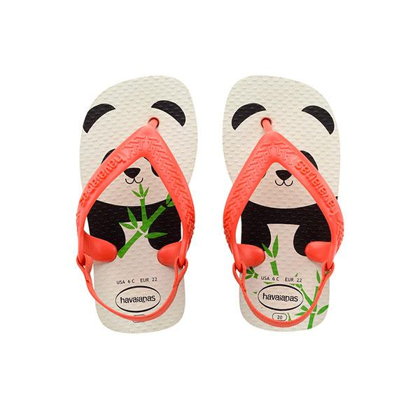 Havaianas Baby Pets - White/ Strawberry - Barefoot Blvd