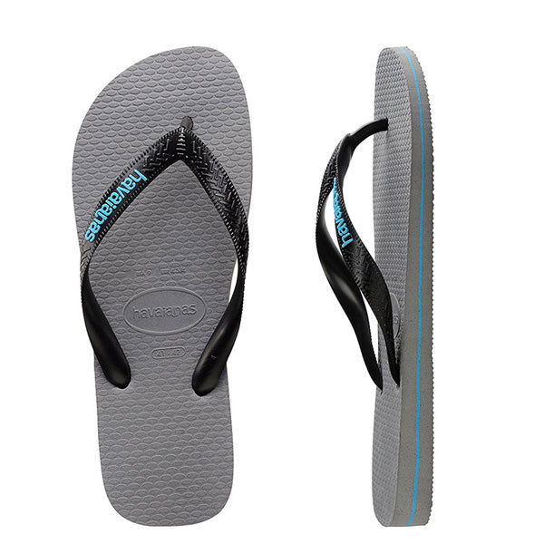 Havaianas Kids Rubber Logo - Steel Grey/Blue