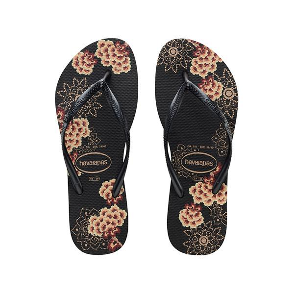 Havaianas Slim Organic - Black/Dark Grey - Barefoot Blvd