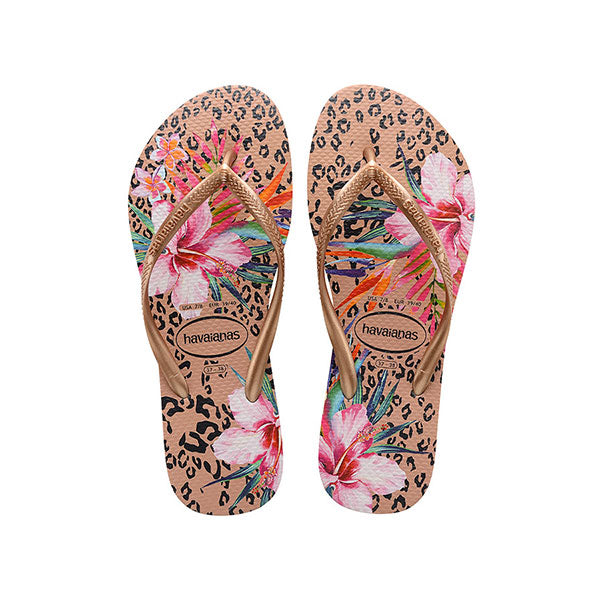 Havaianas Kids Slim Animal - Floral Crocus Rose - Barefoot Blvd