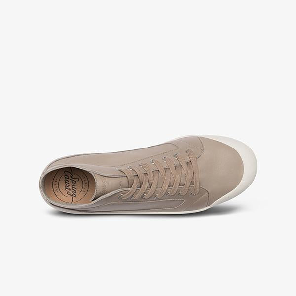 Spring Court M2 Slim Leather - Ladies  Beige Mastic