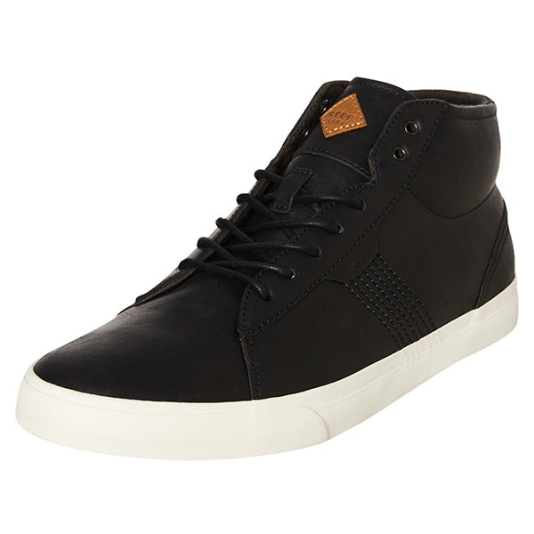 Reef Ridge Mid Lux Shoe - Black Natural Mens - Barefoot Blvd