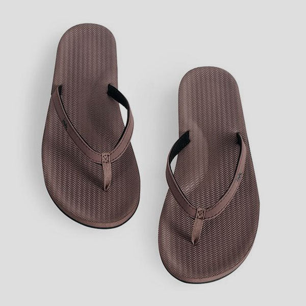 Indosole Womens Essential Flip Flop - Brown - Barefoot Blvd