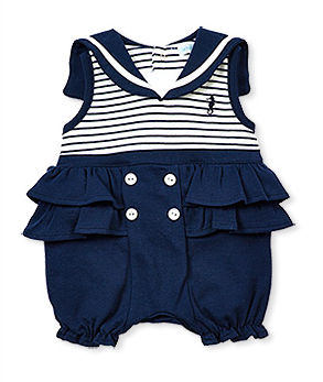 Sleeveless bubble with sailor collar LITTLE SEAHORSE - Too Cute for You Baby and Toddler Boutique