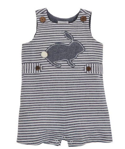 BUNNY CHAMBRAY STRIPE SHORTALL