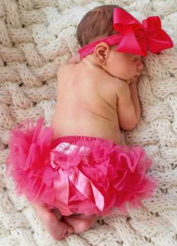 Hot Pink Frilly Knit RuffleButt