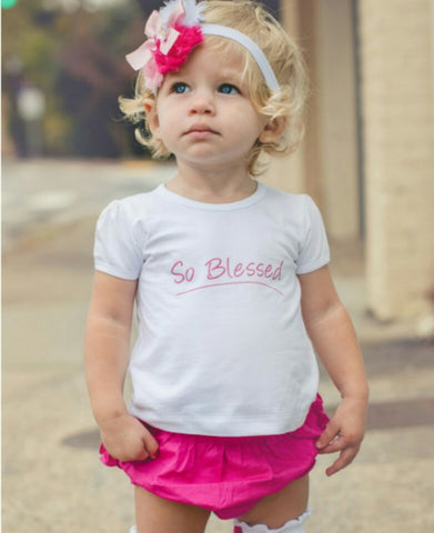 "White ""So Blessed"" Tee"