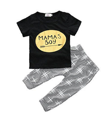 Mama's Boy Short Sleeve Outfit