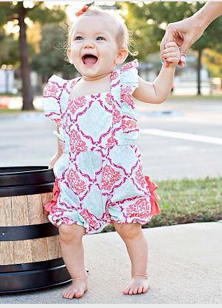 Damask Bubble Romper
