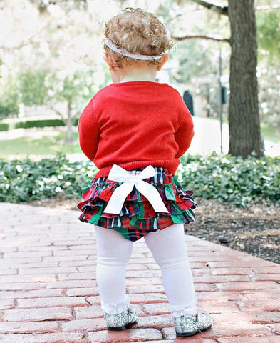 Green and Red Plaid Diaper Cover