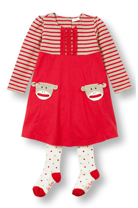 Dress and tights SILLY MONKEY POCKETS - Too Cute for You Baby and Toddler Boutique - 1