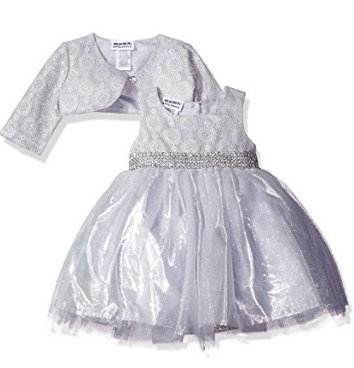 Blueberi Boulevard Baby Girls' Sparkle Jacket Dress