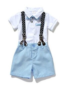 Sky Blue Suspender Outfit
