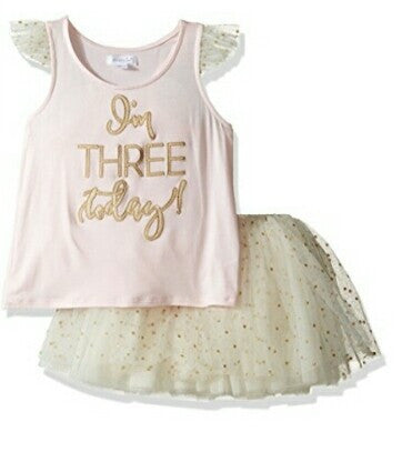 I'm 3 Birthday Princess Tutu Set