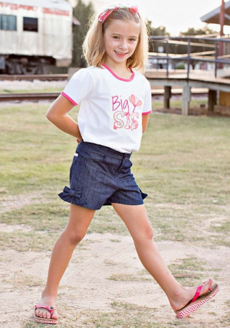 Sweet Stems Mix-Print Big Sis Tee