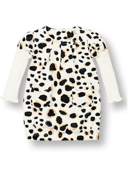 Leopard Print Dress with Long Sleeves - Too Cute for You Baby and Toddler Boutique - 1