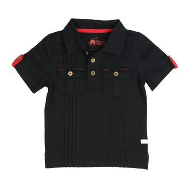 Black 2- Pocket Polo - Too Cute for You Baby and Toddler Boutique - 1