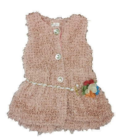 Blush Pink Furry Vest - Too Cute for You Baby and Toddler Boutique