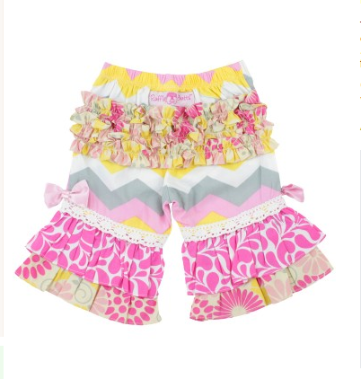 Cara Chevron Ruffle Capris - Too Cute for You Baby and Toddler Boutique - 2