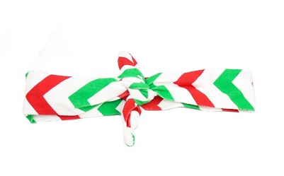 Christmas Chevron-Knotted Headbands - Too Cute for You Baby and Toddler Boutique