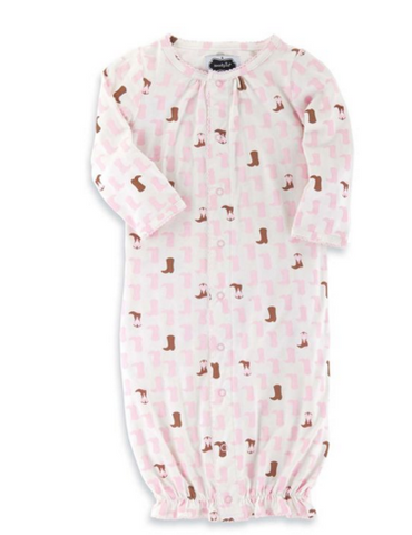 Bamboo Cowgirl Convertible Gown - Too Cute for You Baby and Toddler Boutique - 1