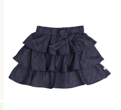 Ruffled Denim Bow Skirt - Too Cute for You Baby and Toddler Boutique - 1